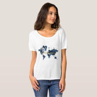 Camiseta Cita del viaje del mapa del mundo