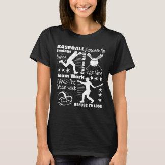 Camiseta Citas de los aficionados al béisbol y diseño
