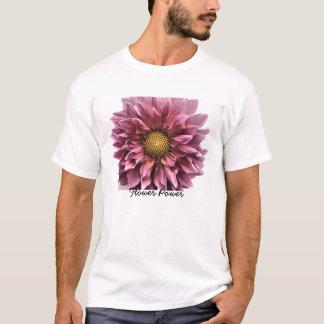 Camiseta Claridad de la dalia, flower power