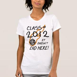 Camiseta ¡Clase de 2012 - no termina aquí!