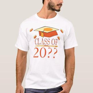 Camiseta Clase del gorra de la graduación del amarillo