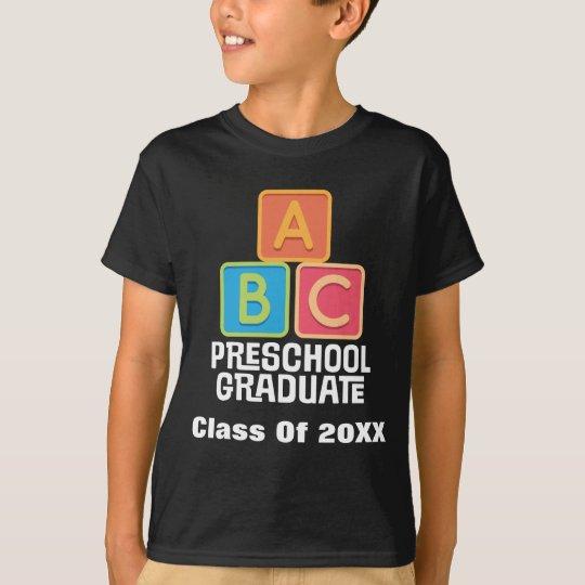 Camiseta Clase graduada del preescolar de la graduación