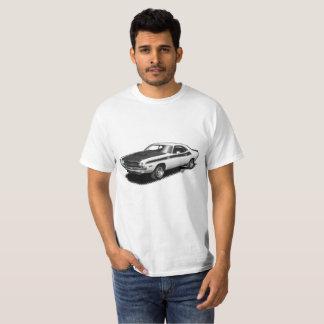 Camiseta clásica del coche del desafiador blanco