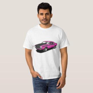 Camiseta clásica del coche del desafiador magenta