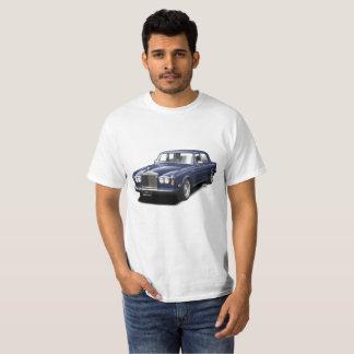Camiseta clásica real del coche del balanceo azul
