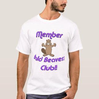 Camiseta Club calvo de los castores del miembro