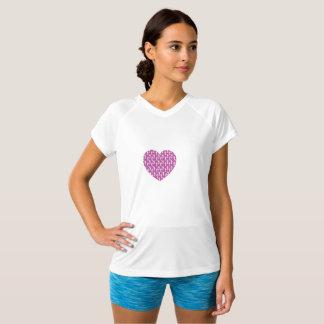 Camiseta club corriente del corazón rosado de SheRuns.com