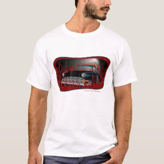 Camiseta Coche de carreras de Chevy del tono 54 del negro