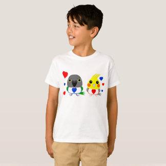 Camiseta Cockatiel del オカメインコオウム y loro de Senegal con los