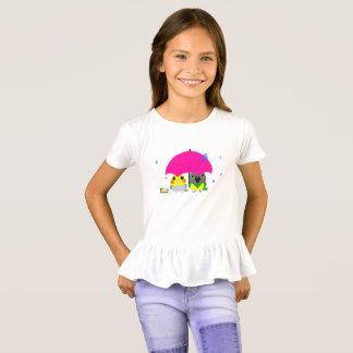 Camiseta Cockatiel del オカメインコオウム y loro y paraguas de
