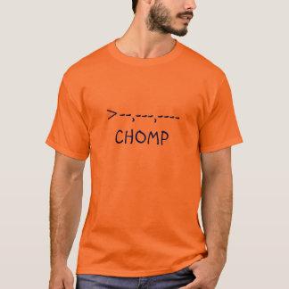 Camiseta cocodrilo >--,---,----  CHOMP