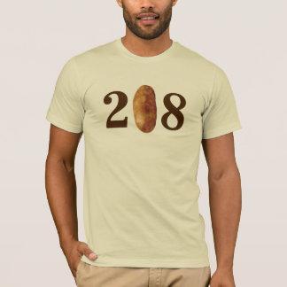 Camiseta Código de área de 208 Idaho