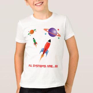 Camiseta Cohetes de espacio coloridos frescos