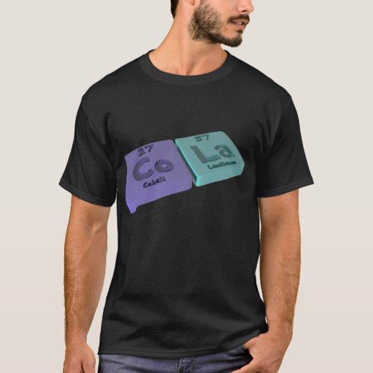 Camiseta Cola como el cobalto del Co y lantano del La