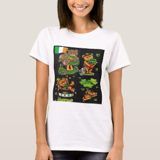 Camiseta Colección del día de St Patrick del oso de peluche