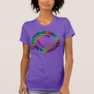 Camiseta Colecreations estableció el animal colorido de la