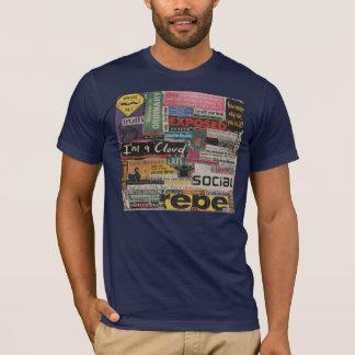 Camiseta collage de papel único de recortes de revista