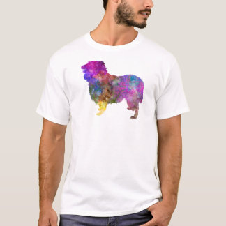 Camiseta Collie in watercolor 2