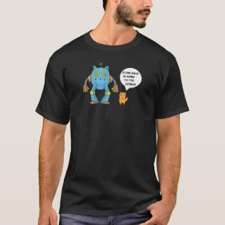 Camiseta Coloqúese que vuelve intentar el gato divertido