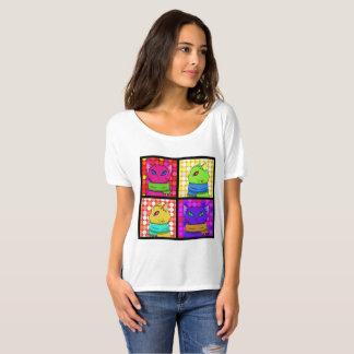 Camiseta coloreada de los gatos