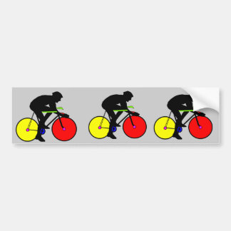 Camiseta coloreada multi de la bici de la biciclet pegatina para coche