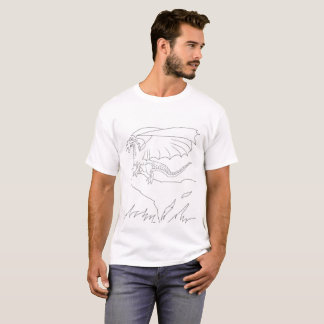 Camiseta Coloréeme que D está para el dragón