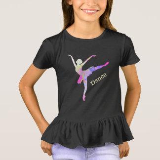 Camiseta colorida de la danza de la bailarina