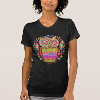 Camiseta colorida del búho 80s