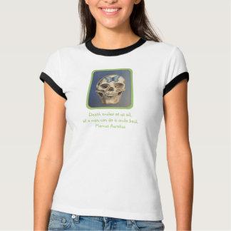 Camiseta colorida del cráneo de la bella arte
