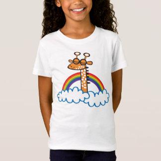 Camiseta Colorida Jirafa. Jirafa. Arcoiris, arco iris