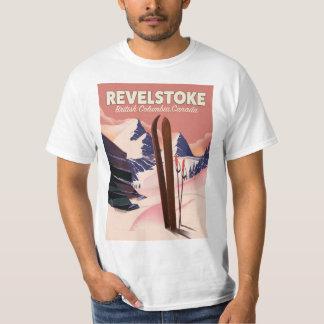 Camiseta Columbia Británica de Revelstoke, poster del esquí