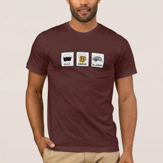"""Camiseta """"Coma, beba, duerma"""" el acampar de la lágrima"""