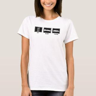 Camiseta Coma/chica del Tc del sueño/de la travesía