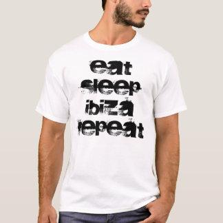 Camiseta Coma, duerma, Ibiza, repetición