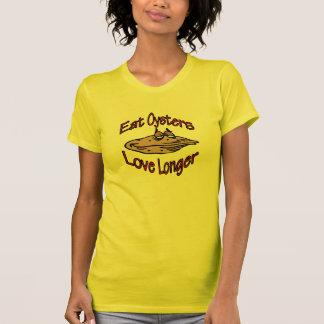 Camiseta Coma el amor de las ostras más de largo