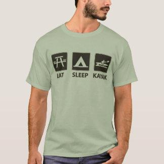 Camiseta Coma el negro del kajak del sueño