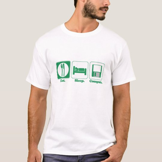 Camiseta coma el ordenador del sueño (el verde)