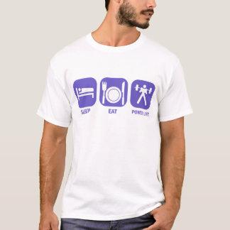 Camiseta coma la elevación del poder del sueño