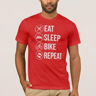 Camiseta Coma la repetición de la bici del sueño