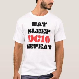 Camiseta Coma la repetición del DC-10 del sueño