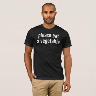 Camiseta coma por favor una verdura