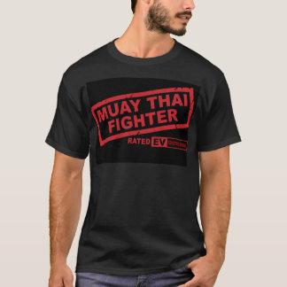 Camiseta Combatiente tailandés de Muay (oscuro)