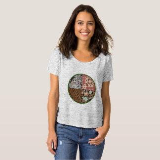 Camiseta Combinación del batik