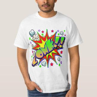 Camiseta Cómic ZONK del vector