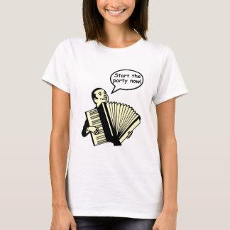 Camiseta ¡Comience el fiesta! (Acordeón)