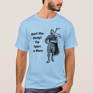 Camiseta ¡Comience el fiesta! Los gaiteros están aquí