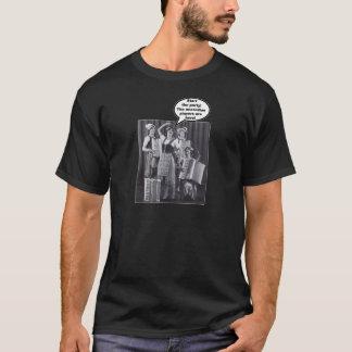 Camiseta ¡Comience el fiesta! ¡Los jugadores del acordeón