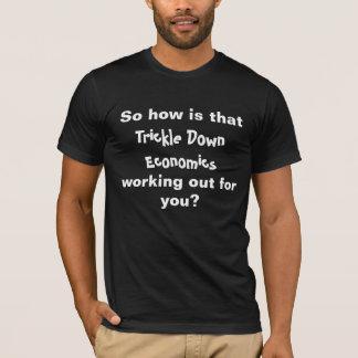 Camiseta ¿Cómo ese gotean abajo la economía está