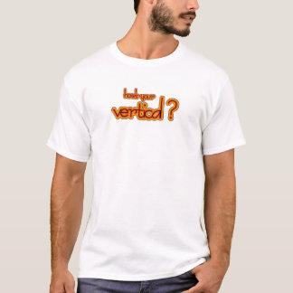 Camiseta ¿cómo está su vertical? logotipo ambarino