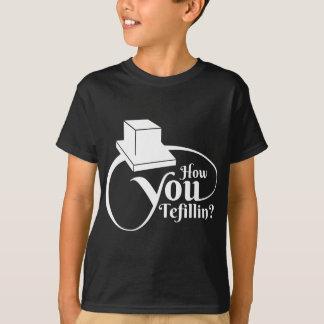 """Camiseta """"Cómo usted Tefillin"""" (blanco)"""